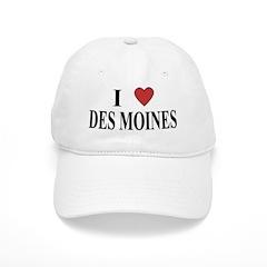 I Love Des Moines Baseball Cap