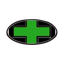 Green Medical Cross (Bold/ black background) Patch