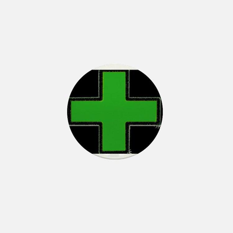 Green Medical Cross (Bold/ black background) Mini