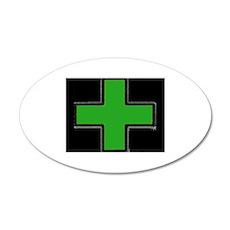 Green Medical Cross (Bold/ black background) Wall