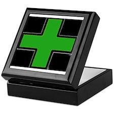 Green Medical Cross (Bold/ black background) Keeps