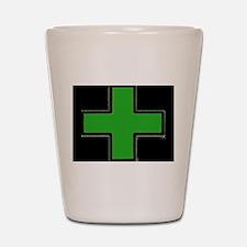 Green Medical Cross (Bold/ black background) Shot