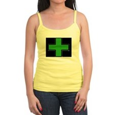 Green Medical Cross (Bold/ black background) Tank