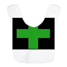 Green Medical Cross (black background) Bib