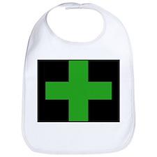 Green Medical Cross (black background) Bib