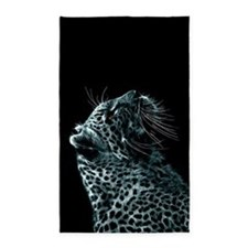 Snow Leopard 3'x5' Area Rug