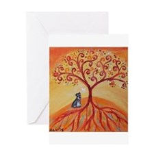 Schnauzer Tree of Life Greeting Cards