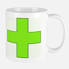 Neon Green Medical Cross Mugs