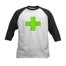 Neon Green Medical Cross Baseball Jersey