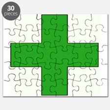 Green Medical Cross Puzzle