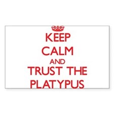 Keep calm and Trust the Platypus Decal