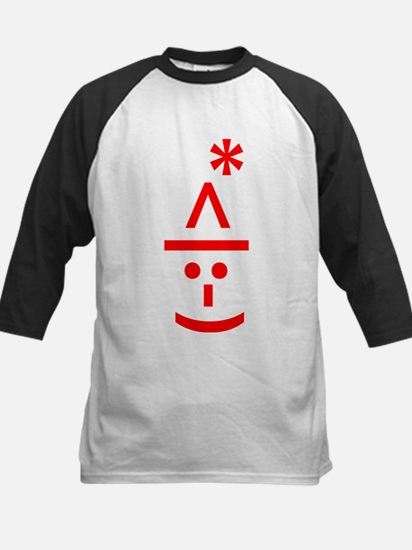 Christmas Elf Emoticon Smiley Baseball Jersey