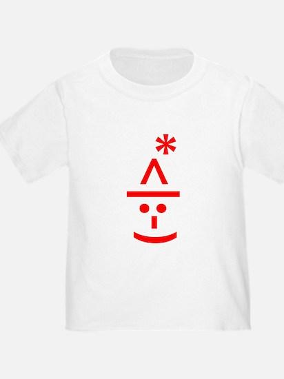 Christmas Elf Emoticon Smiley T-Shirt