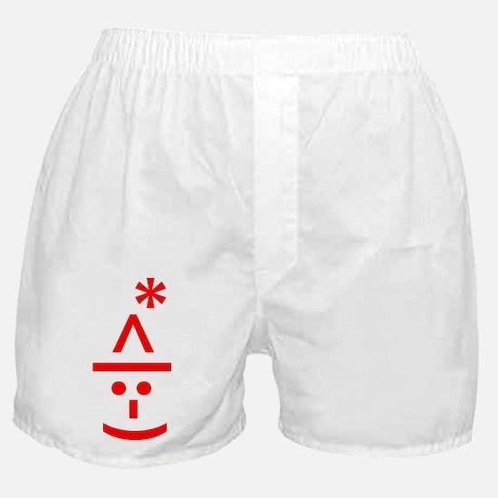 Christmas Elf Emoticon Smiley Boxer Shorts
