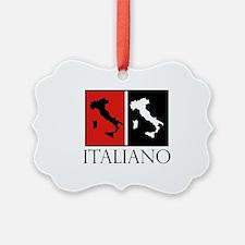 Italiano: Red Black Ornament