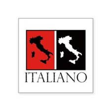 Italiano: Red Black Sticker