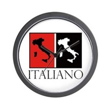 Italiano: Red Black Wall Clock