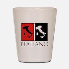 Italiano: Red Black Shot Glass