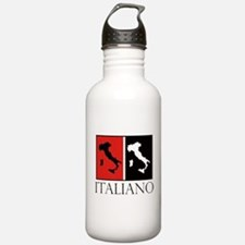 Italiano: Red Black Water Bottle