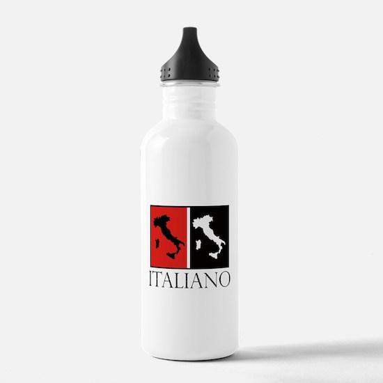 Italiano: Red Black Water Bottle
