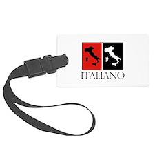 Italiano: Red Black Luggage Tag