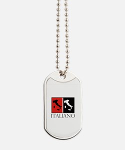 Italiano: Red Black Dog Tags