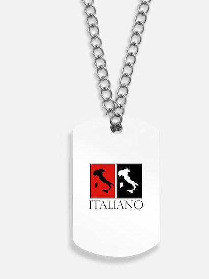Italiano: Red Black Dog Tags