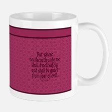 Proverbs 1 33 The Word rose Mug