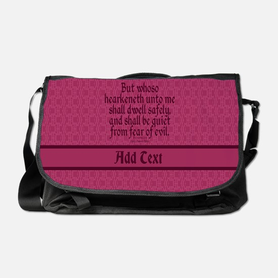 Proverbs 1 33 The Word rose Messenger Bag
