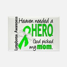 Lymphoma HeavenNeededHero1 Rectangle Magnet