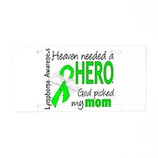 Lymphoma HeavenNeededHero1 Aluminum License Plate