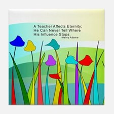 Teacher quote Blanket Tile Coaster