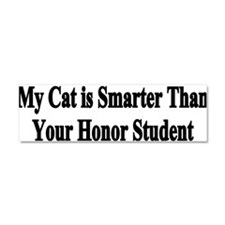 Cute My american bulldog is smarter than your honor student Car Magnet 10 x 3