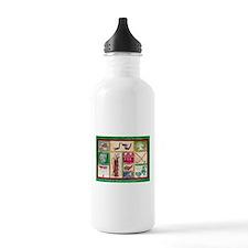 Golf Collage Water Bottle