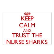 Keep calm and Trust the Nurse Sharks Postcards (Pa
