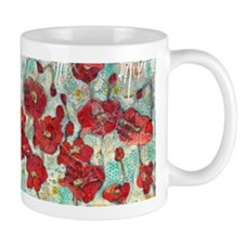 glowing Poppies Mugs