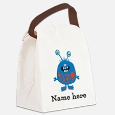 Blue Monster (p) Canvas Lunch Bag