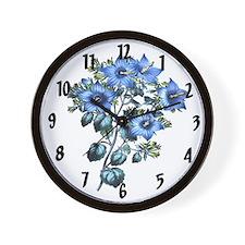 Paxtons Campanula fragilis hirta Clock Wall Clock