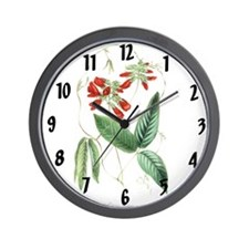 Paxtons Clitoria fulgens Clock Wall Clock