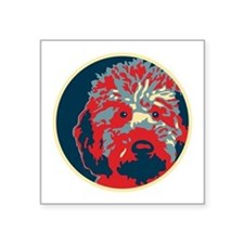 "Unique Obama dogs Square Sticker 3"" x 3"""