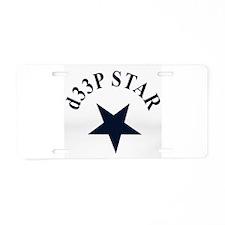 dEEP Aluminum License Plate