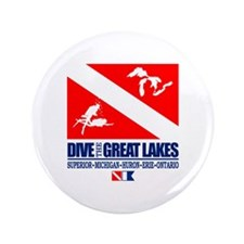 """Dive The Great Lakes 3.5"""" Button"""