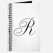 R Initial in Black Script Journal