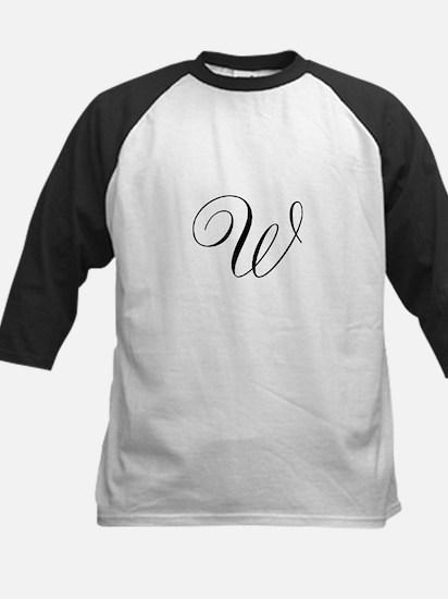 W Initial in Black Script Baseball Jersey