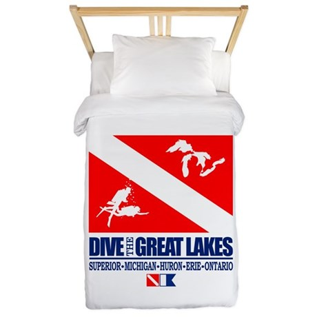 Dive The Great Lakes Twin Duvet