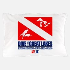 Dive The Great Lakes Pillow Case