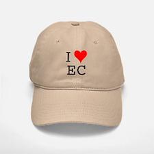 I Love EC Baseball Baseball Cap