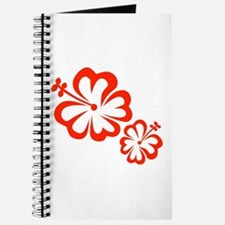 Red Hibiscus Flowers Journal