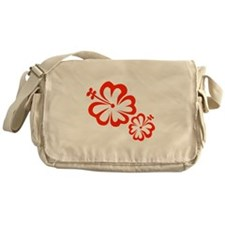 Red Hibiscus Flowers Messenger Bag