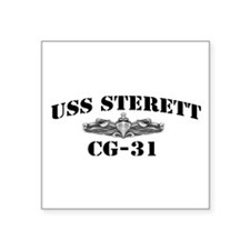 """USS STERETT Square Sticker 3"""" x 3"""""""